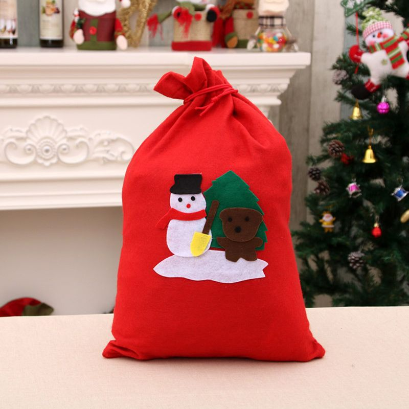 Christmas Gift Candy Storage Bag Xmas Decoration Present Organizer X5XA