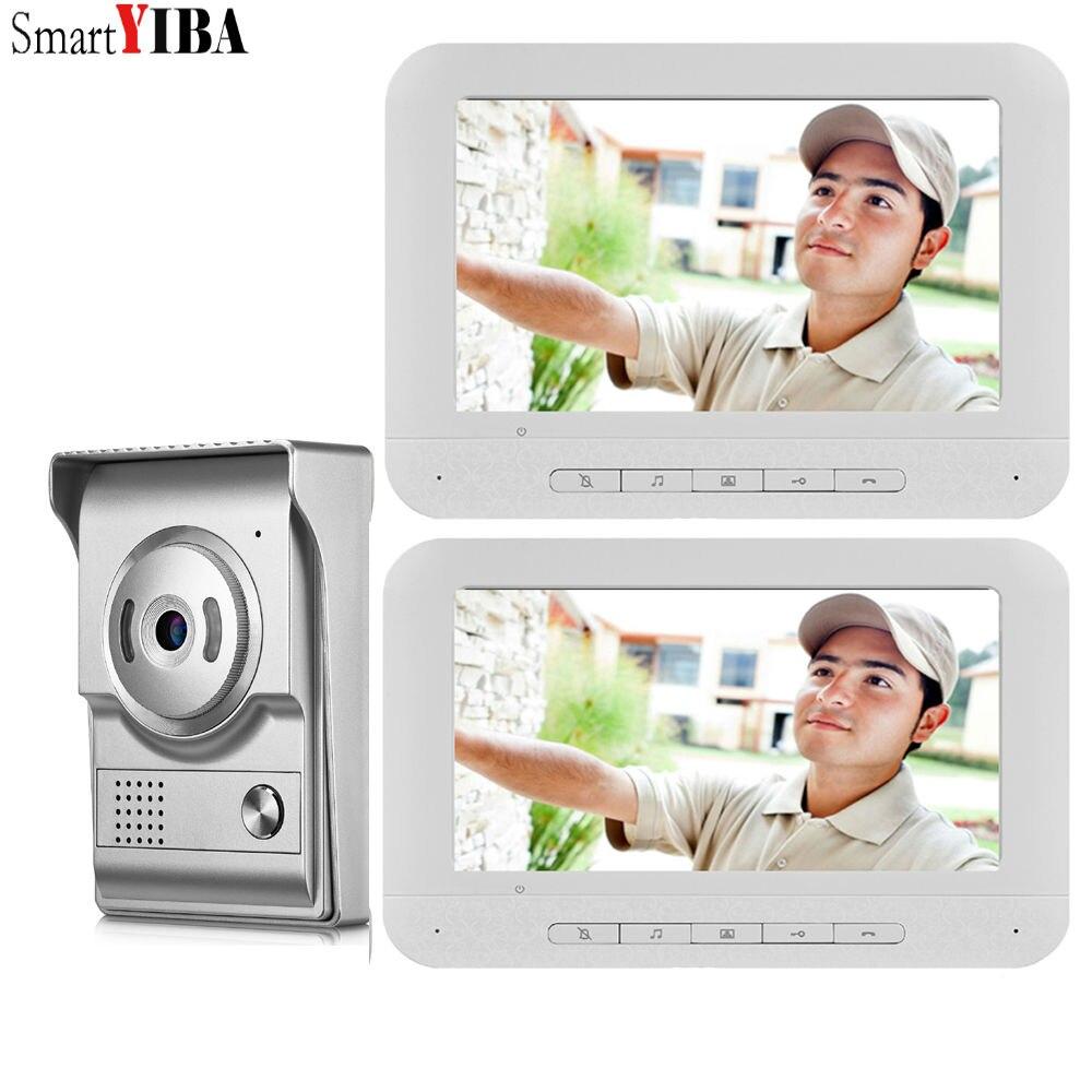 SmartYIBA Video Ring Doorbell Camera Visual Intercom Night Vision Two-Way Intercom Video Door Phone Video Door Entry Phone Call