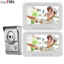 SmartYIBA فيديو حلقة الجرس كاميرا البصرية إنترفون للرؤية الليلية اتجاهين فيديو انتركوم باب الهاتف فيديو باب الدخول مكالمة هاتفية