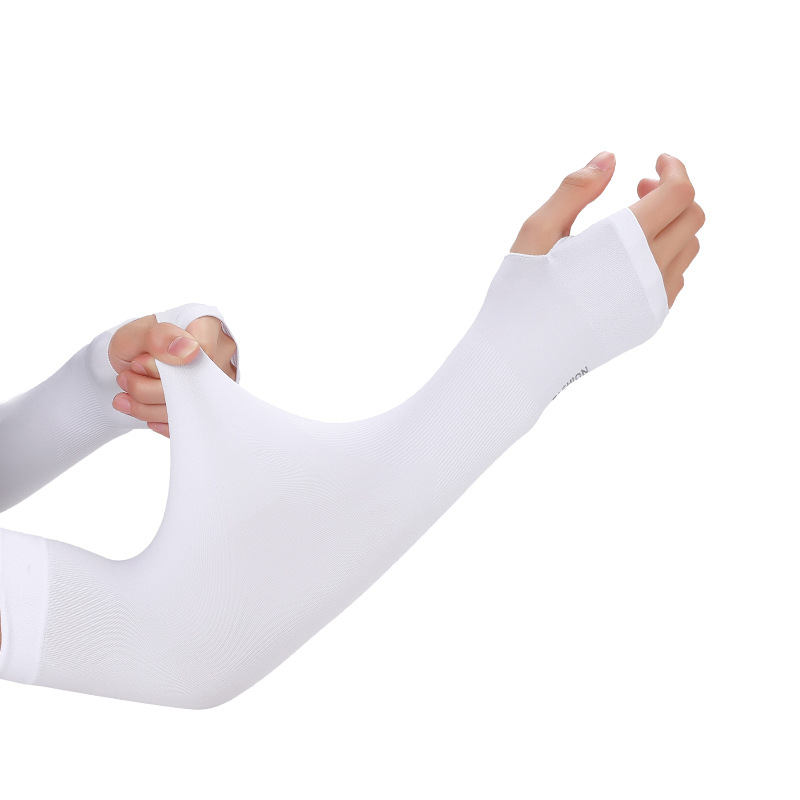 Summer Cool Sport Sun UV Protection Women Sleeve Thin Long Style Ice Silk Gloves Hand Protector Men Drive Outdoor Arm Sleeve