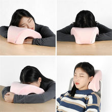 Memory Foam Pillow Relieve Neck-Protection Office Nap Pillow Travel Pillow 27.5X25X13CM(China)