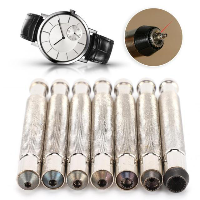 7pcs 3.0 3.5 4.0 4.5 5.0 6.0 7.0 Watch Crown Winder Screw Repairing Watch Tools for Watchmakers watch repairing workers