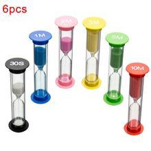 6 шт. Детские 6 цветов классная игра песочные часы таймер песочные часы домашний Декор Игрушки для раннего образования игрушки для моделирования