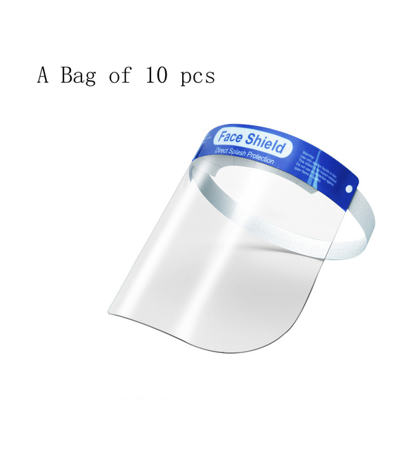 Adult Transparent Face Shield Anti-Saliva Protective Visor Face Mask Head-Mounted Protection Full Face Masque Masks