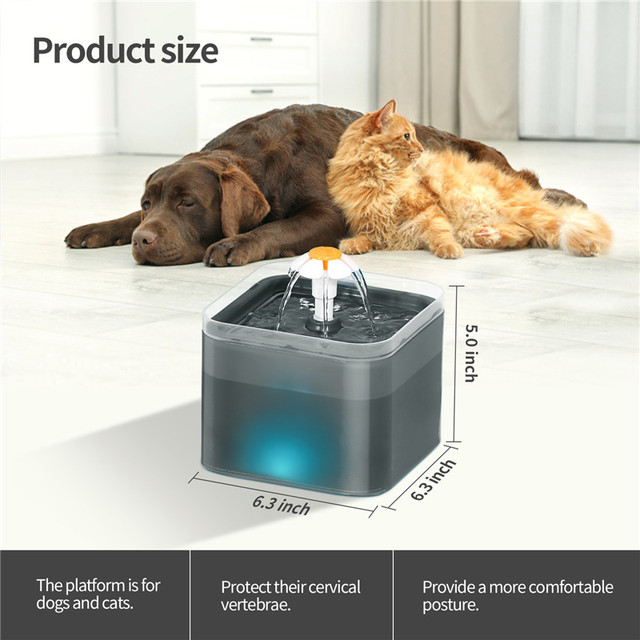 Automatic Pet Water Drinking Dispenser Fountain With LED Level Display  3