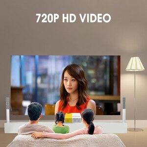 Image 4 - Mini Projector J9 HD Home Projector Theater Support 1080P AV USB Micro SD Card USB Portable Pocket Beamer EU US Plug PK YG 300