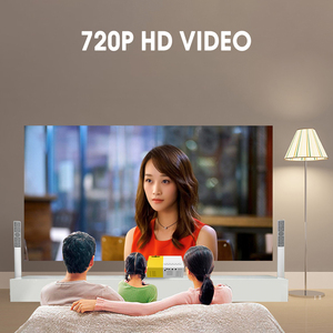 Image 4 - Mini Projektor J9 HD Hause Projektor Theater Unterstützung 1080P AV USB Micro SD Karte USB Tragbare Tasche Beamer EU UNS Stecker PK YG 300