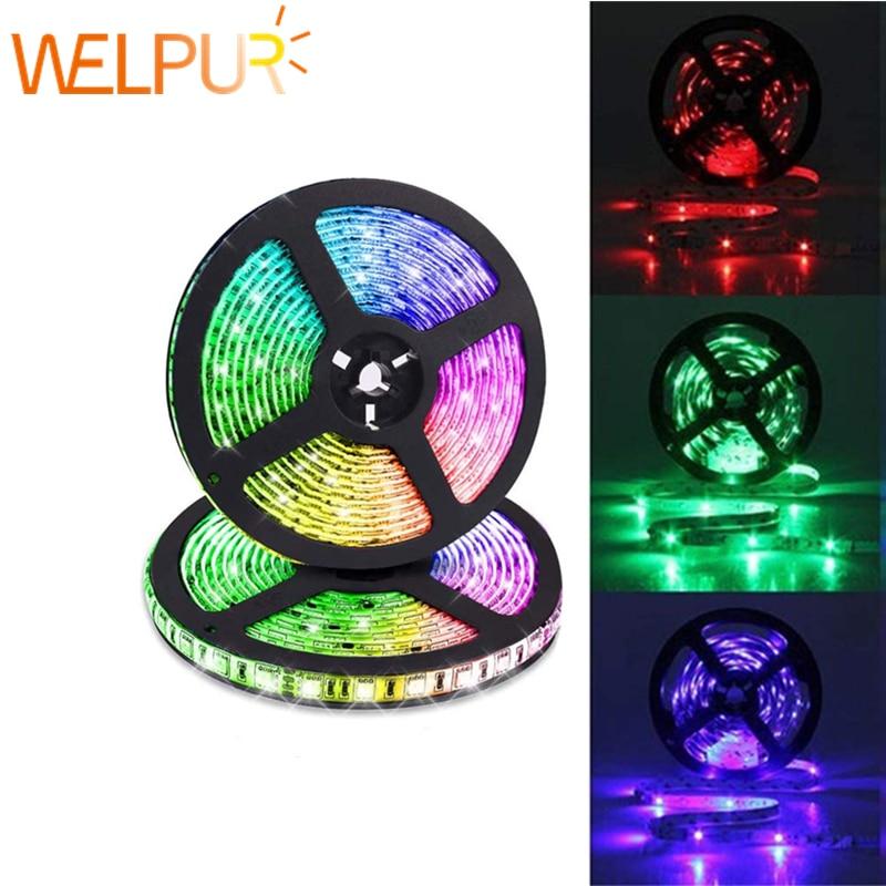 Led Strip Light 5M 300Leds No-waterproof RGB  2835 5050 DC12V 60Leds/M Fiexble Light Led Ribbon Tape Home Decoration Lamp