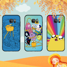 Adventure Time Luxury Black Case For Samsung A3 4 5 6 plus A8 9 A10 A20 30 A40 50 A60 A70 2017 M40 J6 Cover(China)