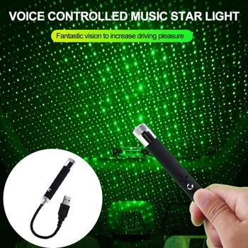 Nuevo proyector LED de luz de noche de estrellas para techo de coche, lámpara de galaxia decorativa USB, lámpara ajustable con múltiples efectos de iluminación TSLM1