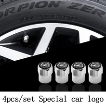 Cover Car-Wheel-Tire Astra Air-Anti-Theft-Valve-Caps Metal Opel 4pcs with Brand-Logo