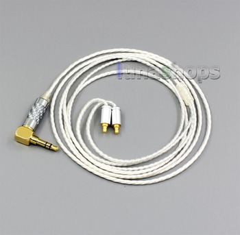LN006457 XLR Balanced 3.5mm 2.5mm Hi Res Silver Plated Headphone Cable For Sennheiser IE400 IE500 Pro