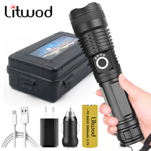 XHP100 High Quality Powerful Led Flashlight USB Rechargeable 18650 26650 Battery Zoomable Torch Aluminum Waterproof Lantern