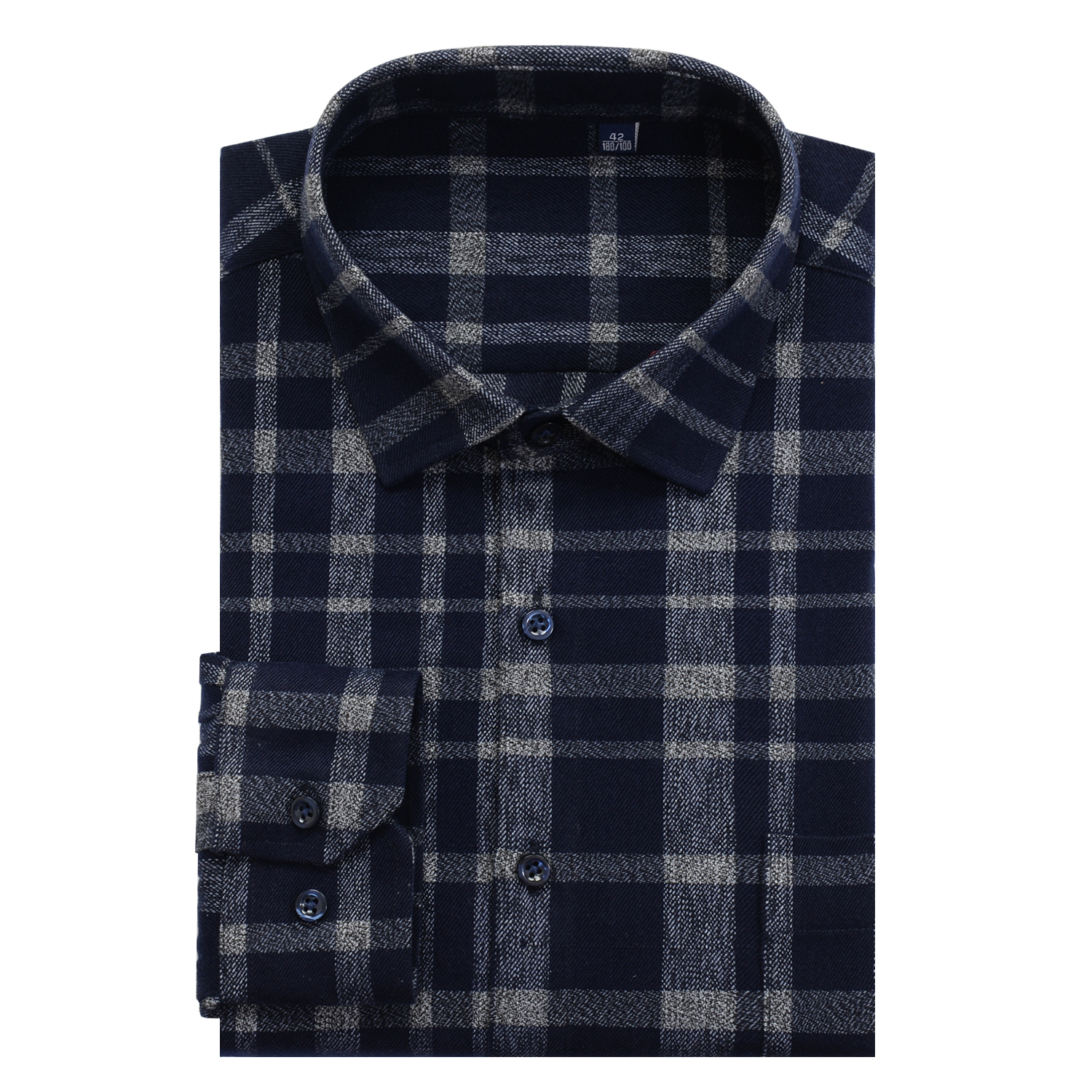 Image 4 - Mens Thick Plaid Shirt 2019 New Classic Style Fashion Casual  Loose Long Sleeved Sanded Shirt Male Large Size 7XL 8XL 9XL 10XLCasual  Shirts