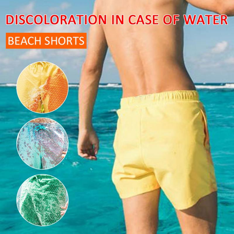 2020 Color Changing Beach Swim Trunks Swimwear Swimsuit That Men Swimming Warm Shorts for Men's Beach Swim Male Briefs New 8
