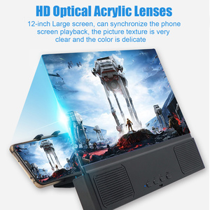 Image 1 - Besegad 3 in 1 12inch 3D HD Mobile Phone Screen Amplifier Magnifier Projector with Bluetooth Speaker Mobile Power Function