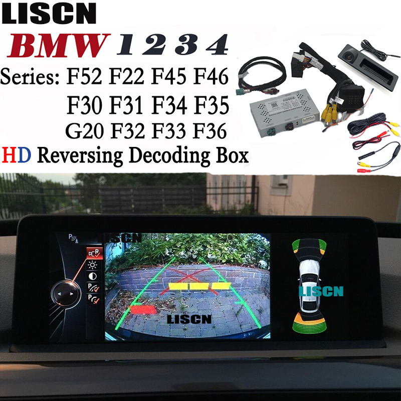 Fron Rear Camera For BMW 1 2 3 4 Series F52 F22 F45 F46 2010 2019 Reversing camera interface Adapter OEM Cable Backup camera