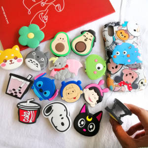 Cartoon Universal mobile phone bracket Cute  Phone Expanding Folding Stand Finger Holder panda phone holder Stand car