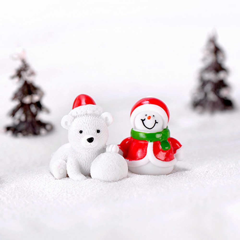 1 PC Tặng Nhà Búp Bê Đồ Chơi Cây Cảnh Giáng Sinh Trang Trí Micro Phong Cảnh Ông Già Noel Tượng Hình Thu Nhỏ Người Tuyết TỰ LÀM Decors Phụ Kiện