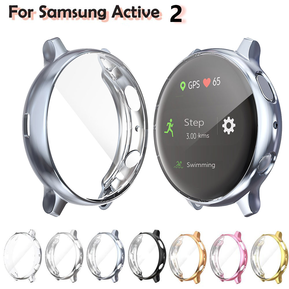 TPU Full Protection Cover For Samsung Galaxy Watch Active 2 Ultra-thin Screen Protector Case For Galaxy Active 40/44mm