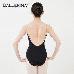 Image 2 - Ballet práctica leotardo mujeres danza traje Sling danza negro leotardo adultos niñas gimnasia leotardo bailarina 5040