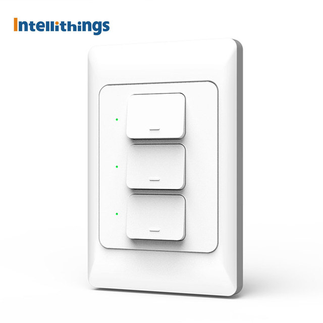 Zemismart US AU Tuya WiFi Wall Push Light Switch With Neutral Physical Switches Alexa Google Home Voice Control 1 2 3 Gangs 110V 1