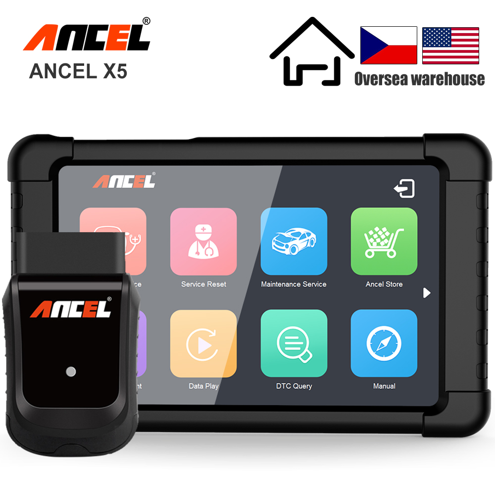 ANCEL X5 OBD2 Automotive Scanner ABS SRS Oil EPB DPF Reset Full Systems WIFI OBD2 Multilingual Car Diagnostic Tool Update Free
