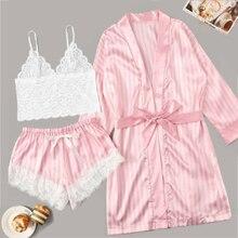 Delle donne pigiami degli indumenti da notte pigiami di seta per le donne del manicotto del bicchierino sveglio pigiami delle donne carino pigiama set di estate delle donne pijama mujer