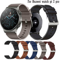 Cinturino per Huawei Watch GT 2 pro cinturino in vera pelle Smart Wristband bracciale per Samsung Galaxy Watch 3 accessori 45mm