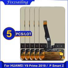 5Pcs 6.59 ''Original Lcd Voor Huawei P Smart Z Lcd STK-LX1 Lcd Touch Screen Digitizer Voor Huawei y9 Prime 2019 Lcd