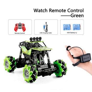 1:16 Rc Autos 4wd Uhr Control Geste Induktion Fernbedienung Auto Maschine Fur Radio-gesteuert Spielzeug Autos Stunt-Auto - RcCar001-Green-2B