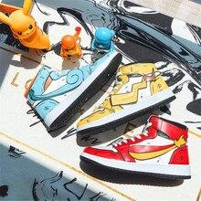Горячая Покемон из японского аниме обувь PIKACHU косплей для мужчин и женщин Данк высокий скейтборд студенческая мода хип-хоп обувь чармандер Сквиртл