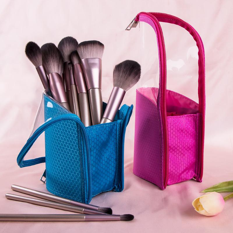 Mesh Transparency Makeup Brush Bag Dust-proof Brush Makeup Holder Waterproof Travel Case For Women Brush Organizer Makeup Tools
