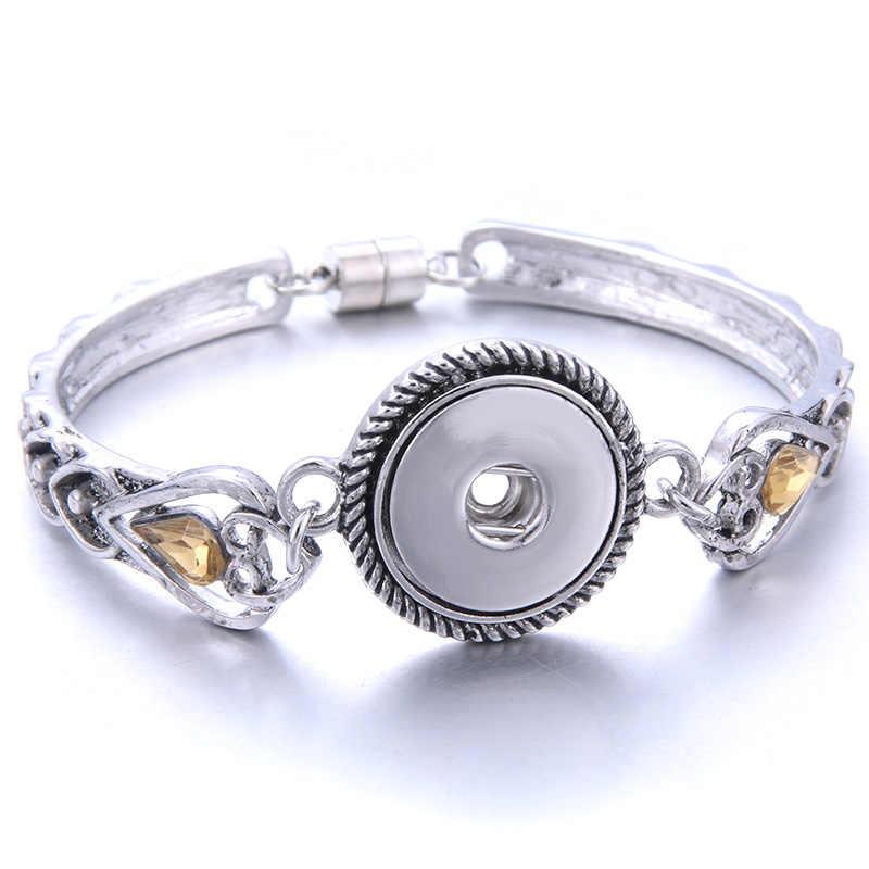 2019 nowy zatrzask metalowy przycisk bransoletka czeski magnes bransoletka Snap dla kobiet 18 przyciski zatrzaskowe mm wymienne Charm Snap biżuteria