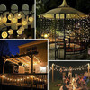 5M 10M Solar Lamp Crystal Ball Globe Waterproof LED Solar String Light Bulb Garden Christmas Decor Outdoor Solar Light Garland promo