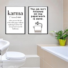 Wall Art Pictures Minimalist Drawing Amusing Toilet Paper Jokes Canvas Painting Nordic Vintage Posters Print Bathroom Home Decor