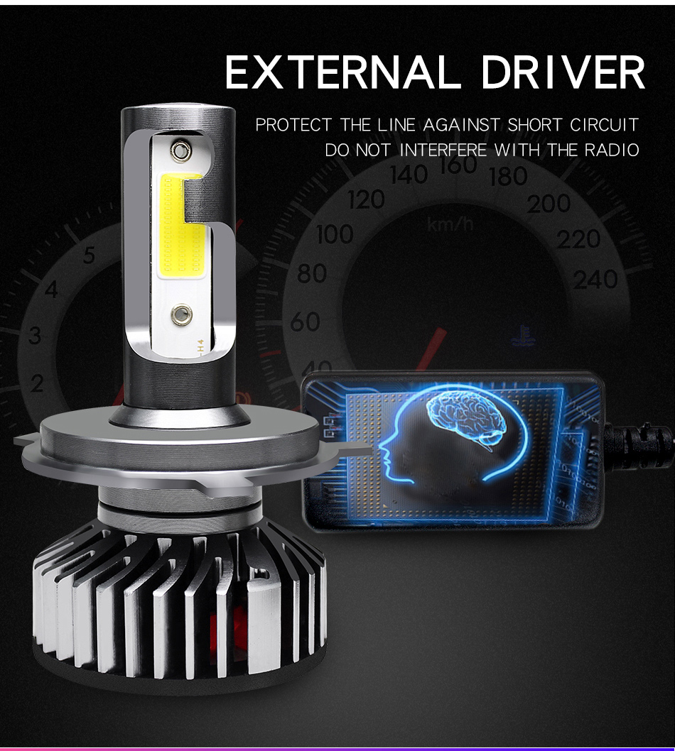 Image 5 - ZTZPIE 12V 3000K 4500K 6000K 8000K 12000LM 9005 H1 H4 Turbo Led Headlight H3 H7 H11 9006 Canbus Led Bulbs Super Bright COB LightCar Headlight Bulbs(LED)   -