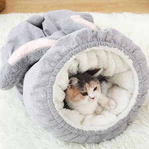 Image 4 - Hoopet לחיות מחמד חתול סל מיטת חתול בית חם מערת מלונת כלב גור בית שינה מלונה טדי נוח בית קאט מיטת