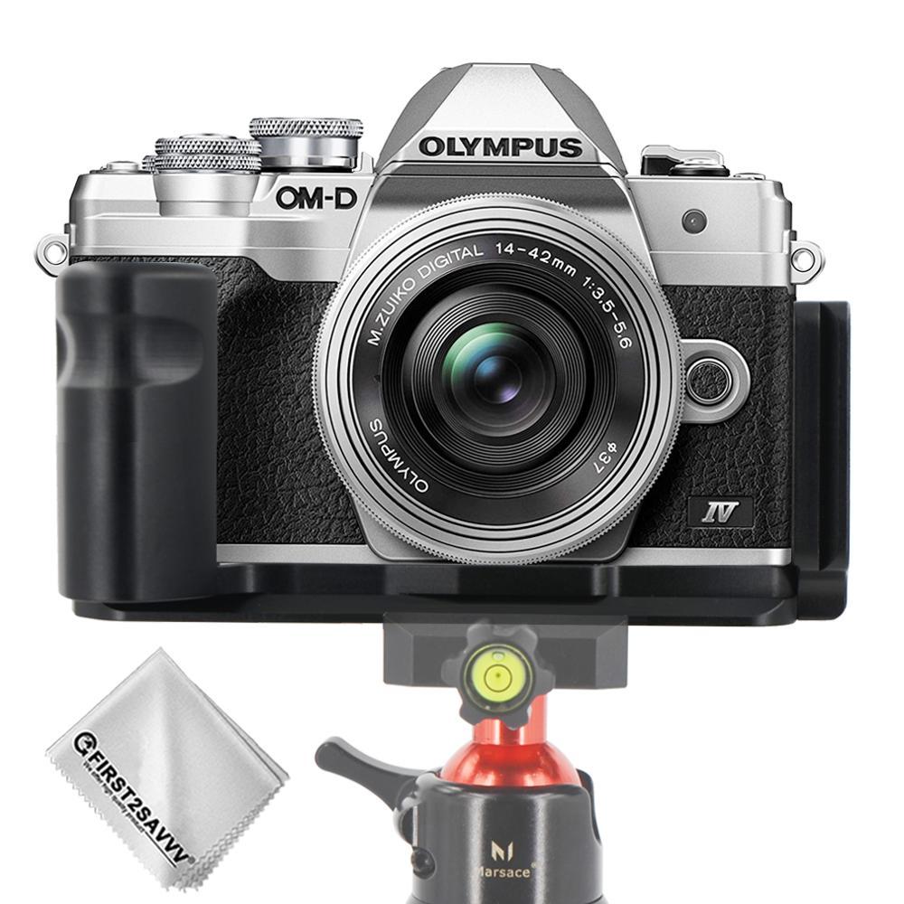 Quick Release L Plate Bracket Hand Grip Holder for Olympus E-M10 Mark IV EM10 IV