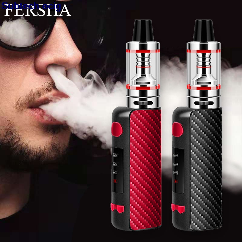 Mini Box <font><b>Mod</b></font> Starter Kits 2200mAh Battery Vape <font><b>Mod</b></font> 80W Electronic <font><b>Cigarette</b></font> Vape Kit 3ml tank 510 Thread Voltage Adjustable Kit image