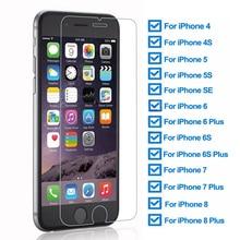 Szkło hartowane 9H dla iPhone 5 5S SE 4 4S folia ochronna dla iphone 6 6S 7 8 Plus szkło ochronne