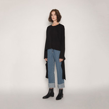 In The Fall of 2019 Base Street-school Has Thin Straight-length Wide Leg Jeans Ankle-Length fashion Pants Women