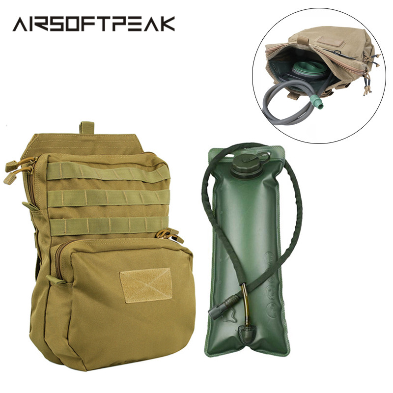 3L Outdoor Hydration Pouch 1000D Nylon Molle Water Hunting Bag For Combat Vest Inner Pack Accessory Pouch Backpack Waterproof