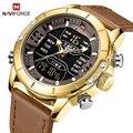 Relogio NAVIFORCE  кварцевые часы для мужчин  люксовый бренд  наручные часы для мужчин  светодиодный  цифровые  спортивные  водонепроницаемые  бизне...