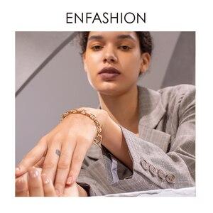 Image 5 - ENFASHION גיאומטרי חלול צמיד Femme זהב צבע נירוסטה פאנק צמידי נשים תכשיטים חברים מתנה B2046