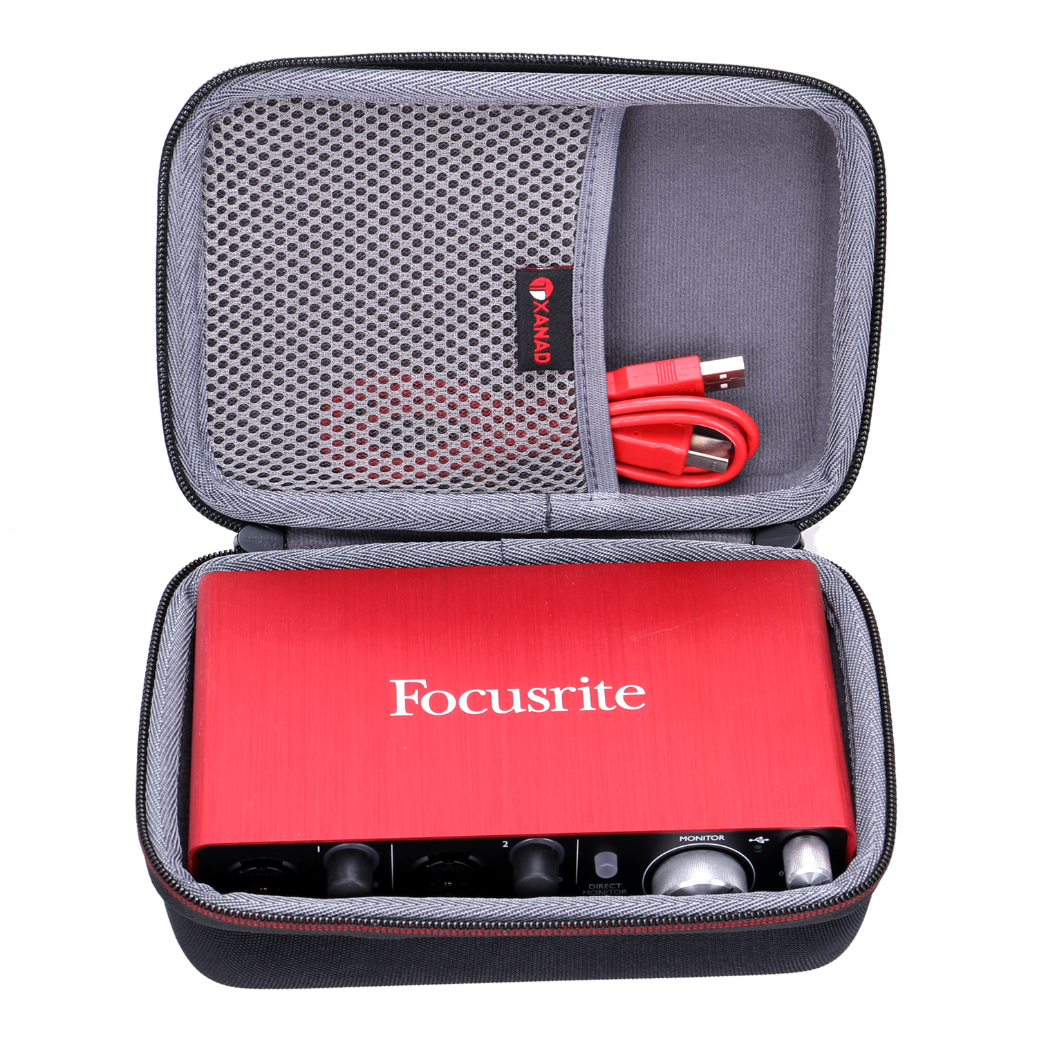 XANAD Waterproof EVA Hard Case For Focusrite Scarlett Solo (2nd Gen) USB Audio Interface With Pro Tools | First