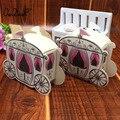100 pcs/lot Romantische märchen Gefälligkeiten Geschenke Baby Dusche Hochzeit Süßigkeiten Box Cinderella Kürbis Wagen hochzeit dekoration mariage