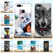For ZTE Blade V9 Phone Case Ultra-thin Soft TPU Silicone Cover Animal Patterned Bumper Coque