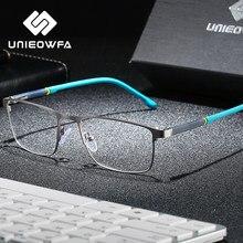 Korea Optical Glasses Frame Men Myopia Prescription Eyeglasses Frame Male Rectangle Stainless Steel Spectacles Frame Custom Lens