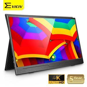 Eviciv 15.6 4k monitor portátil usb tipo c ips tela para ps4 interruptor xbox huawei xiaomi modo de desktop do telefone portátil segundo display